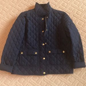 JCrew Petite Navy Quilted Puffer Jacket
